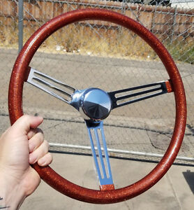 Vtg Style 15 Orange Copper Metalflake Steering Wheel Hot Rod Custom Gasser Rat