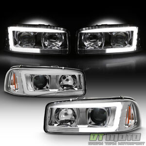 1999 2006 Gmc Sierra Yukon Denali Led Light Tube Projector Headlights Headlamps