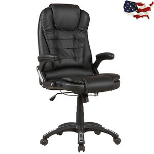 Executive Pu Leather High Back Recliner Swivel Office Chair For Computer Desk Us