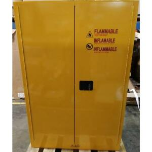 Condor 42x501a 65 X 43 Yellow Steel Flammable Safety Cabinet 45 Gallon 190664