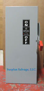 General Electric 100 Amp 600 Volt Fusible Safety Switch Catalog Th3363 new