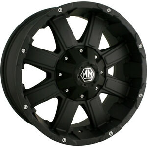 18x9 Black Mayhem Chaos 6x135 6x5 5 12 Rims Nitto Trail Grappler Lt285 65r18
