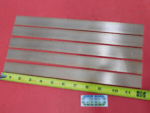 5 Pieces 1 8 X 1 C110 Copper Bar 12 Long Solid Flat Mill Bus Bar Stock H02