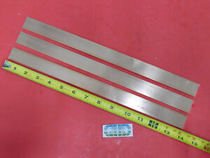 3 Pieces 1 8 X 1 C110 Copper Bar 14 Long Solid Flat Mill Bus Bar Stock H02