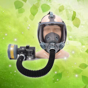 Electric Breathable Chemical Spray Paint Industrial Filter Respirator Gas Mask