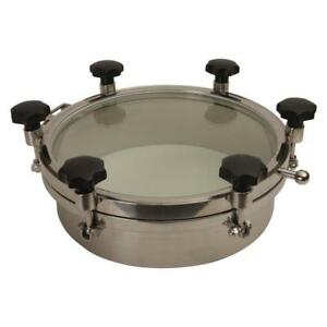 Round Tank Manway 18 Inch Glass Top W 6 Handles epdm 3 Pack