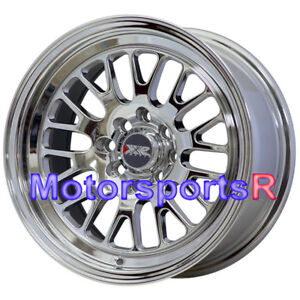 Xxr 531 15x8 20 Platinum Pvd Chrome Wheels Rims 4x100 Stance Acura Integra Gsr