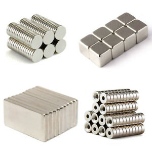 20 50 100 Pcs Round Disc Block Magnets Rare Earth Neodymium N52 N50 N35 All Size