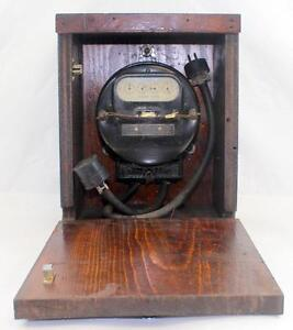 C 1918 Antique Portable Westinghouse Oa Watt Hour Watthour Meter Mounted In Box