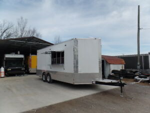 Concession 8 5x20ft White Custom Event Trailer
