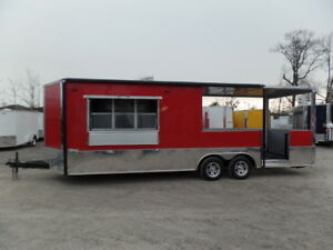 Concession Trailer 8 5 X 24 Red Bbq Event Vending Catering