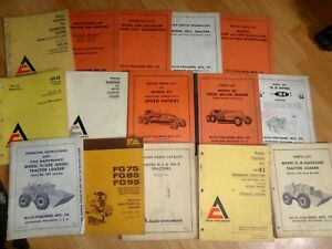 Group 15 Vintage Allis Chalmers Crawler Tractor Equipment Parts Catalogs Oem