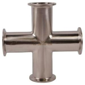 Cross Tri Clamp clover 1 5 1 1 2 Inch Sanitary Ss316 3 Pack