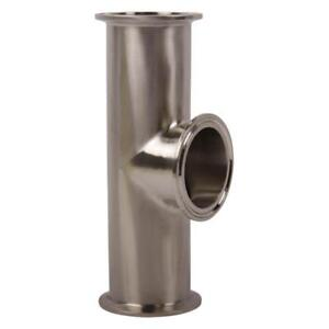 Instrument Tee Tri Clamp 2 Inch Sanitary Ss304 3 Pack
