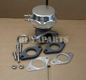 Universal 35 38mm Turbo Manifold Exhaust External Wastegate 14 Psi Spring Silver