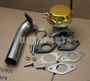 Universal Gold 35mm 38mm Turbo Manifold 14 Psi External Wastegate Dump Pipe