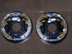 10 Hydraulic Drum Brakes Backing Plates 3500 Lb Axle Assemblies New