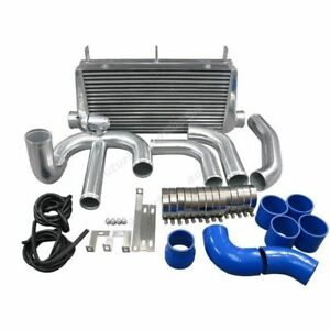 Single Turbo Front Mount Intercooler Kit 4 core For 93 02 Toyota Supra Mkiv 2jz