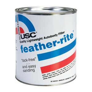 Usc 21335 Feather Rite Quality Lightweight Auto Body Filler Quart