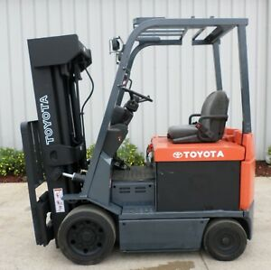Toyota Model 7fbcu25 2006 5000 Lbs Capacity Great 4 Wheel Electric Forklift