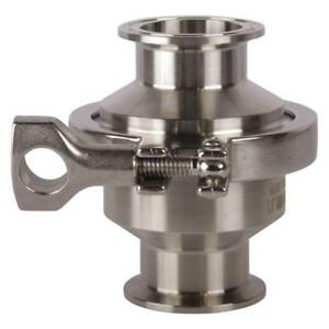 Sanitary Check Valve Tri Clamp 1 5 1 1 2 Inch Ss304 3 Pack