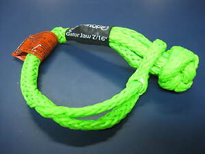 Bubba Rope Gator Jaw Soft Shackle Plasma Double Braid Tow Recovery Strap 176745