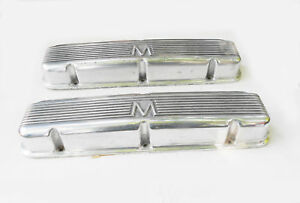 1958 Mercury Super Marauder 400 Hp Tripower Aluminum Finned Valve Covers Rare