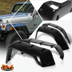 For 97 06 Jeep Wrangler 7 Abs Pocket Riveted Style Wheel Fender Flare Textured