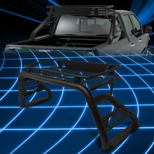For 17 18 Super Duty Truck Bed Black Aluminum Roll Bar Cage cargo Rack Basket