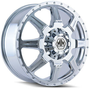 17x6 5 Chrome Mayhem Monstir Dually Front Wheels 8x210 134 Fits Gmc