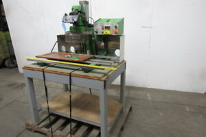 Casati Hf bp Boring Hinge Plate Inserting Machine With Bench Dust Hood