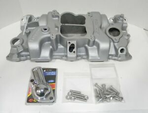 Edelbrock Small Block Chevy Performer Intake Manifold 283 327 350 Reconditioned