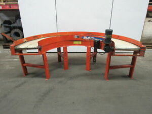 Rmi Plastics 18 Wide 180 Curve Slider Bed Flat Belt Conveyor 115v 0 29 Fpm