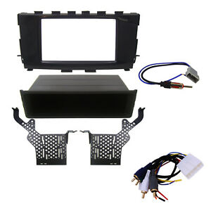 Radio Dash Mounting Kit Double Single Din W Wire Harness Antenna Fits Altima