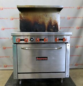 Sierra Sr 6 36 ng Lp Gas Restaurant Commercial Oven Stove Top 6 Burner 36 Range