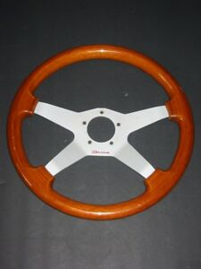 Vintage Dino All Wood 4 Spoke Steering Wheel Sweet
