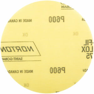 Norton 66261101604 Power Sander Hook & Loop Discs Size 5 P600 Grit  50 EA