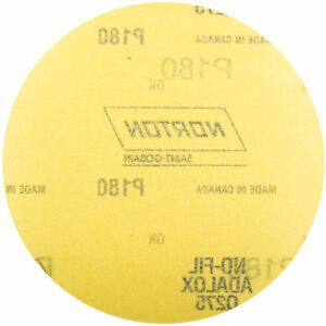 Norton 66261101625 Power Sander Hook & Loop Discs Size 6 P180 Grit  50 EA