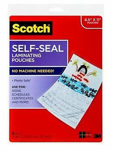 3m ls854 10g Self sealing Laminating Pouches Ls854 10g Price Is For 24 Bag