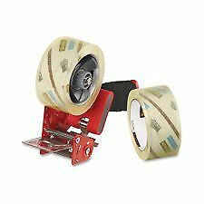 Packaging Tape 2 Rolls With Dispenser 1 7 8 x54 6yds clear Qty 18 18 Pack