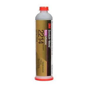 3m Scotch weld Epoxy Adhesive 2214 Hi density Gray 6 Fl Oz Plastic Cart