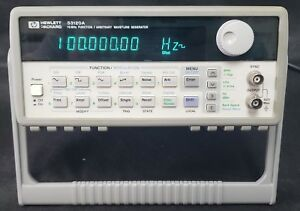 Hp Agilent 33120a 15 Mhz Function Arbitrary Waveform Generator Opt 001