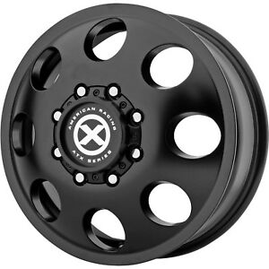 17x6 5 Black American Racing Atx Ax204 Dually Front Wheels 8x200 111 Fits Ford