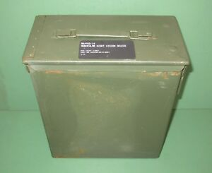US Military Issue ANPVS-14 Monocular Night Vision NVG Metal Ammo Can Case Box