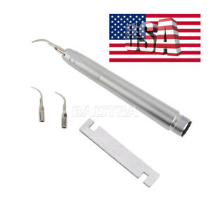Us Dental Air Scaler Handpiece For Nsk 2 Holes With 3 Tips g1 g2 p1 Az2000 b2