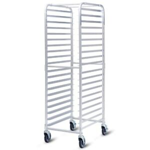 20 Sheet Aluminum Pan Rolling Bakery Rack For Kitchen Bakery Cafeteria Pizzeria