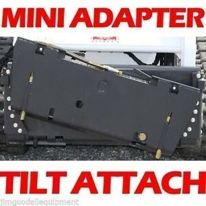 Universal Mini Skid Steer Tilt Attach W Hoses Couplers Fits All Mini Loaders