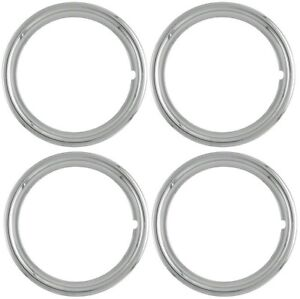 15 New Chromed Steel Beauty Rings Trim Ring Set Of 4