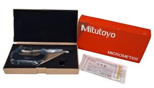 Mitutoyo Carbide Tipped Disc Micrometer 25 50mm With Hard Case 123 114