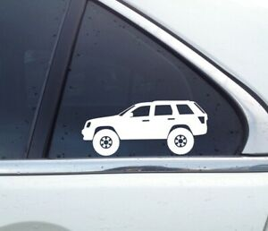 2x Lifted Offroad Truck Stickers For Jeep Grand Cherokee Wk 2005 2010